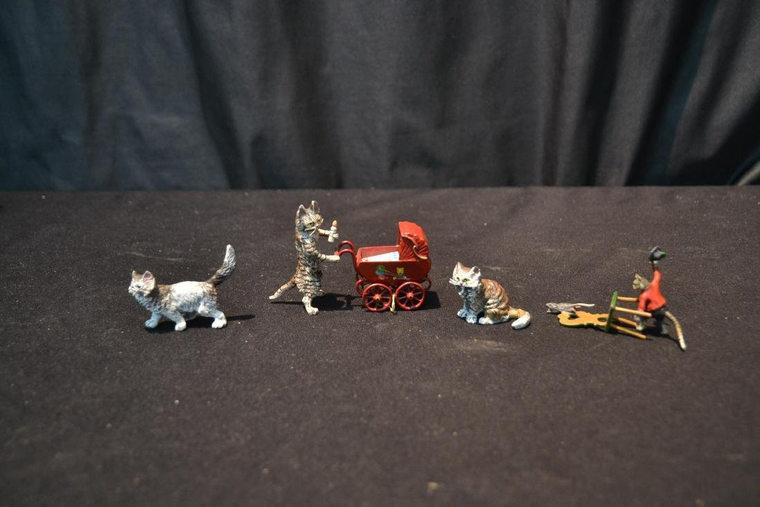 ASSORTED COLD PAINTED BRONZE MINIATURES - 2