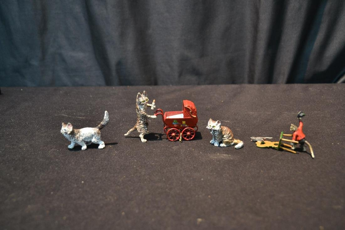 ASSORTED COLD PAINTED BRONZE MINIATURES - 3