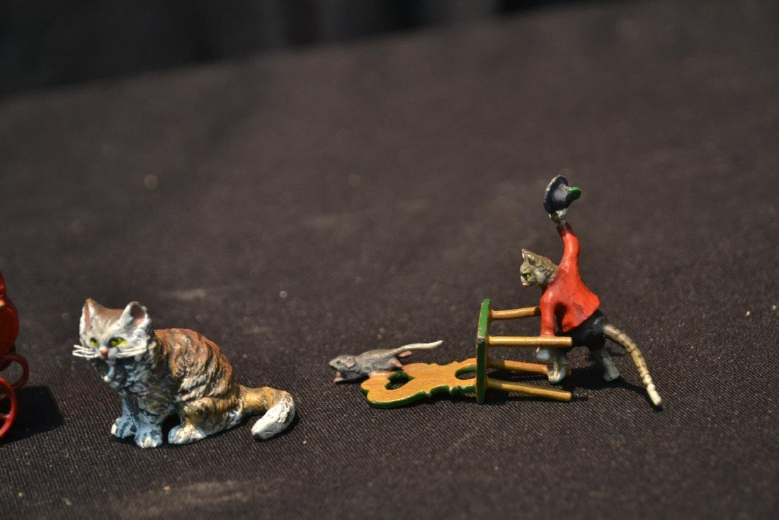 ASSORTED COLD PAINTED BRONZE MINIATURES - 6