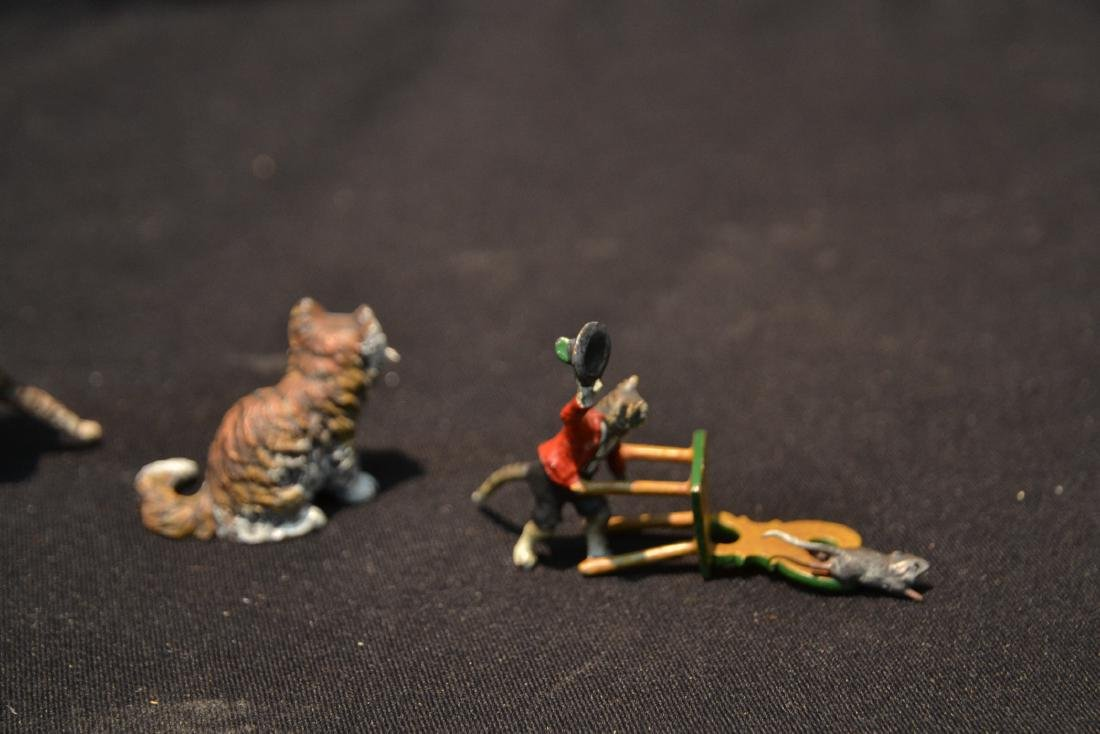 ASSORTED COLD PAINTED BRONZE MINIATURES - 7