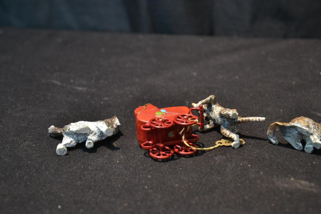 ASSORTED COLD PAINTED BRONZE MINIATURES - 9