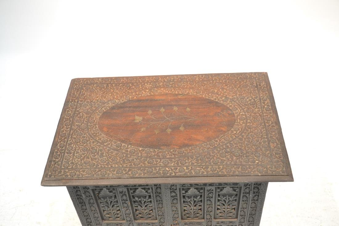 HAND CARVED ANGLO - INDIAN COLLAPSEABLE TABLE - 2