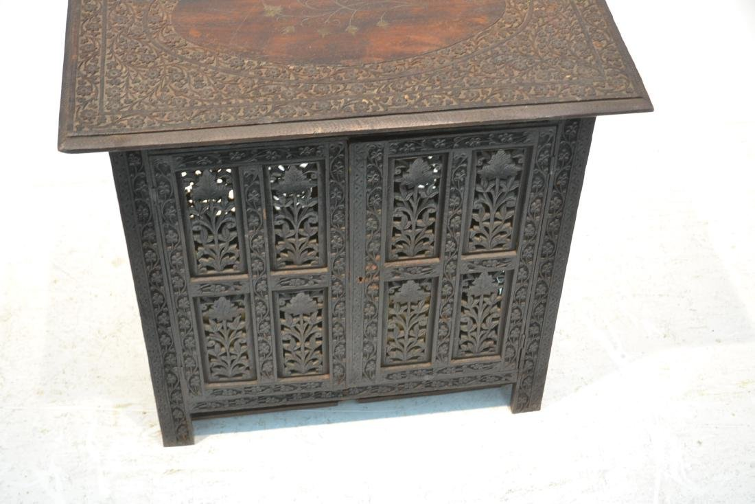 HAND CARVED ANGLO - INDIAN COLLAPSEABLE TABLE - 3
