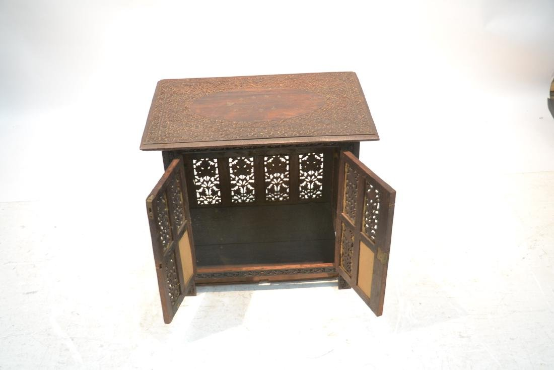 HAND CARVED ANGLO - INDIAN COLLAPSEABLE TABLE - 4