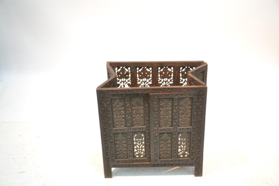HAND CARVED ANGLO - INDIAN COLLAPSEABLE TABLE - 5