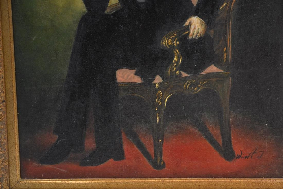 OIL ON CANVAS PORTRAIT OF ABRAHAM LINCOLN - 4