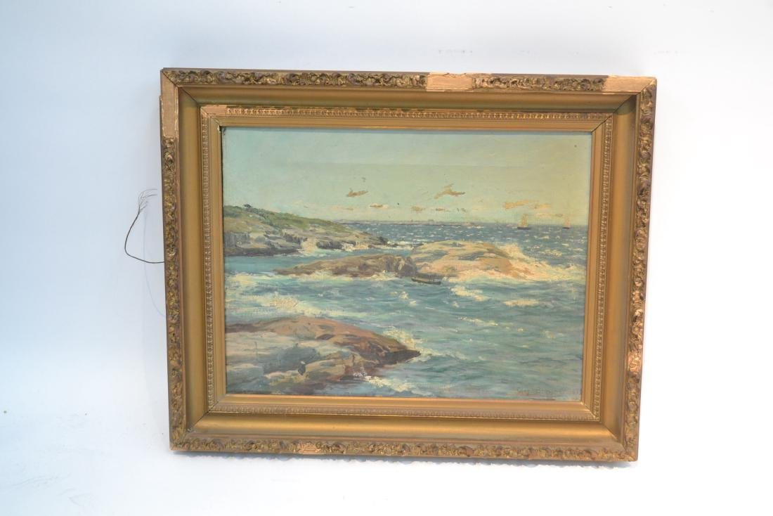 OIL ON CANVAS ROCKY SHORELINE - 2
