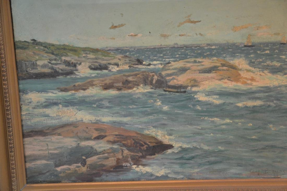 OIL ON CANVAS ROCKY SHORELINE - 4