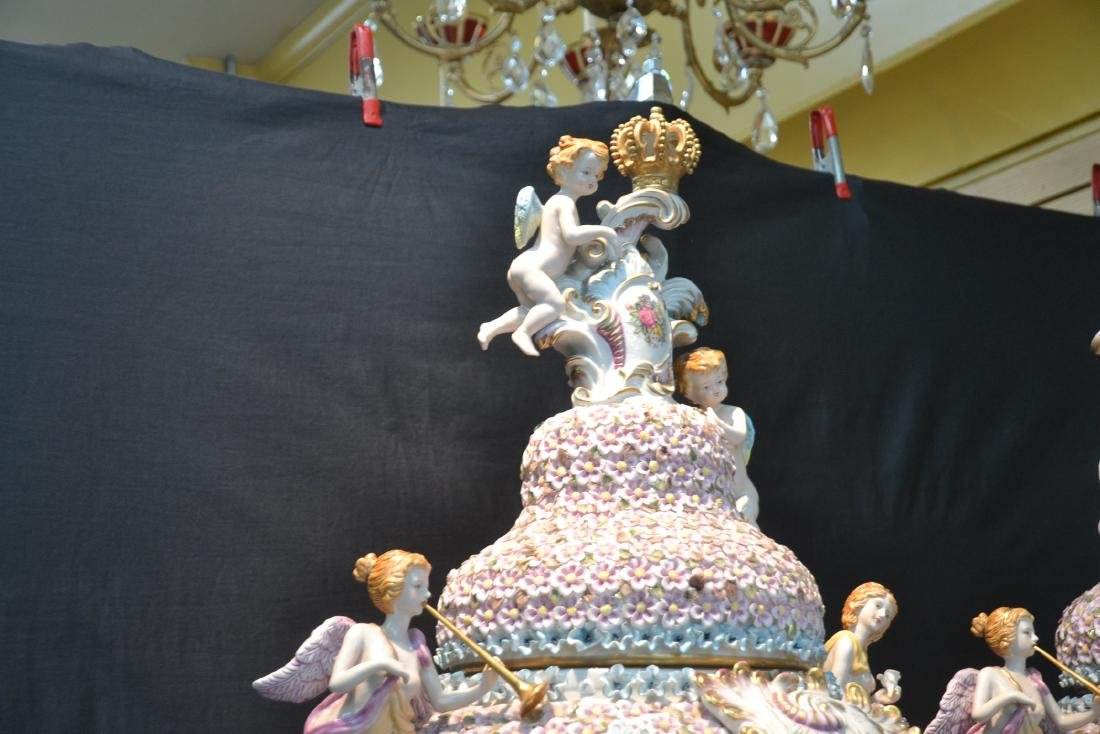 (Pr) PALATIAL SIZE COVERED URNS WITH ENCRUSTED - 7