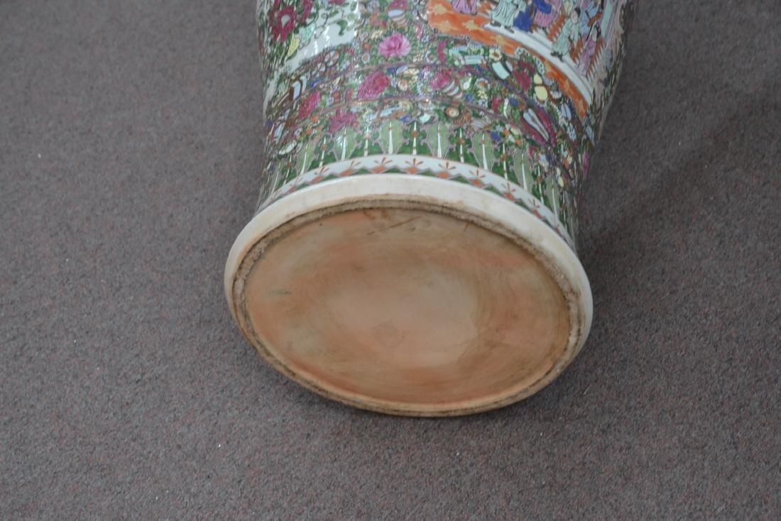 (Pr) PALATIAL ROSE MEDALLIONS URNS ON STANDS - 8