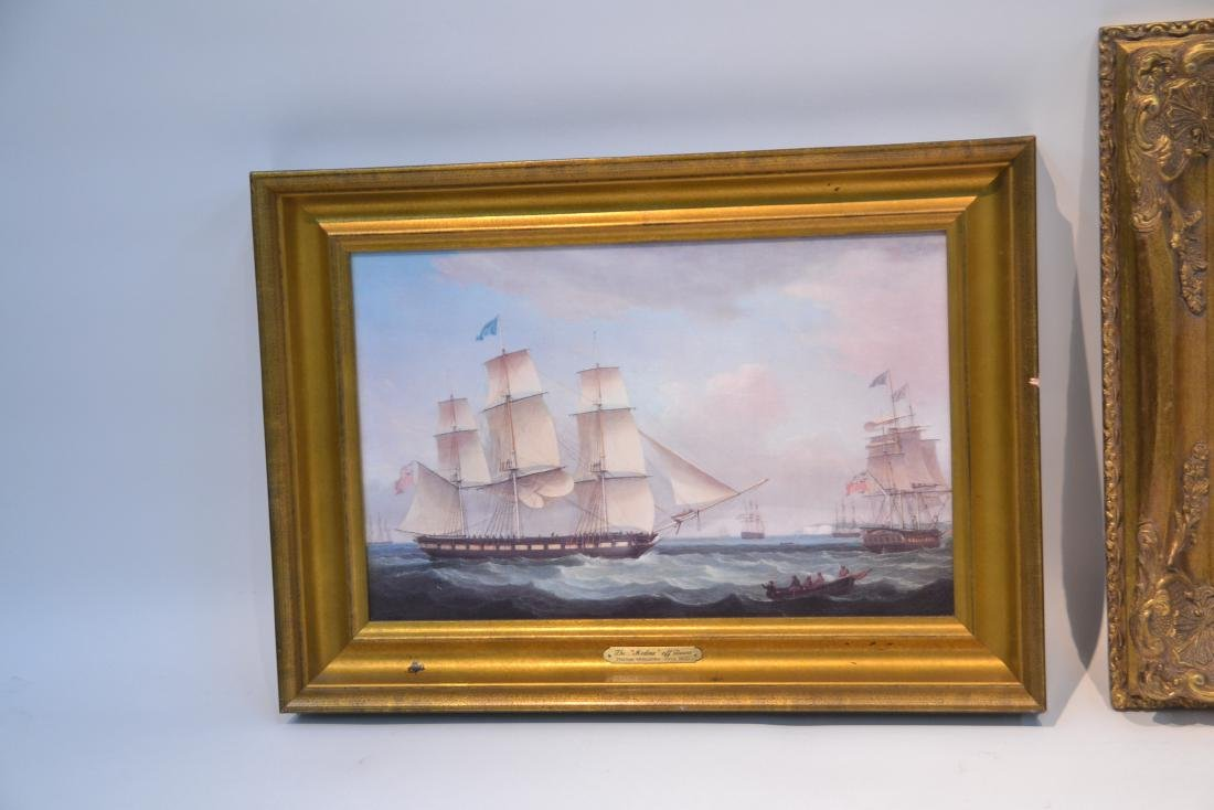 (2) CONTEMPORARY OIL ON CANVAS OF SHIPS AT SEA - 4