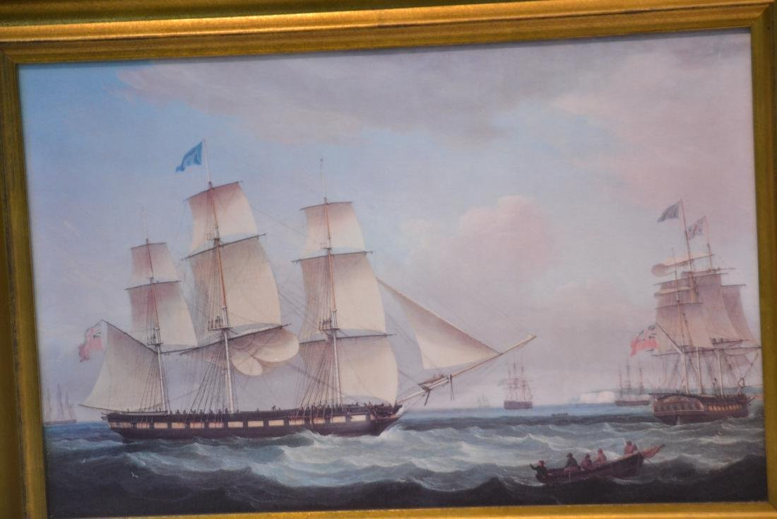 (2) CONTEMPORARY OIL ON CANVAS OF SHIPS AT SEA - 5