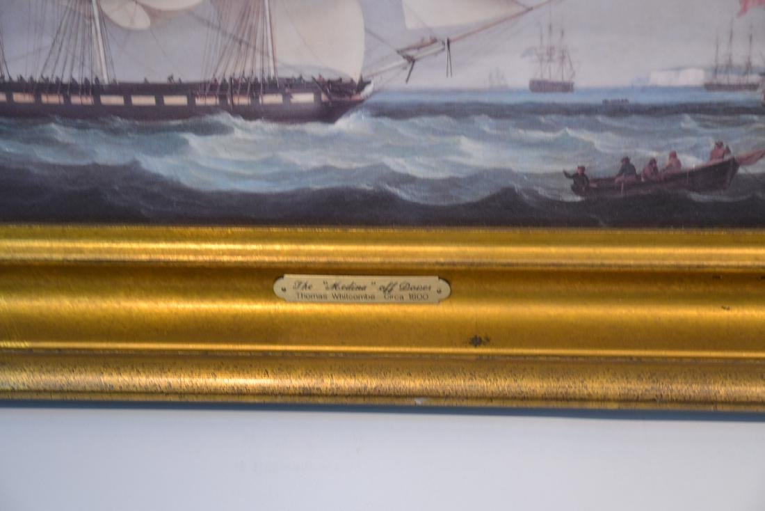 (2) CONTEMPORARY OIL ON CANVAS OF SHIPS AT SEA - 7