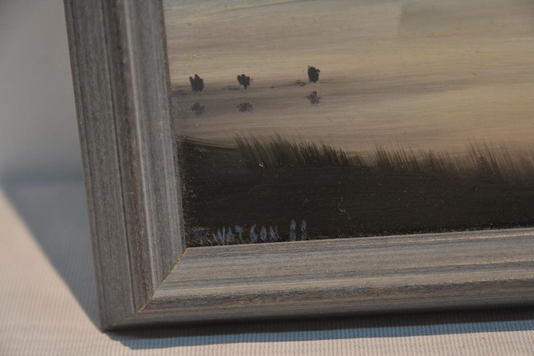 OIL ON BOARD FIGURES BY SHORE SIGNED - 5