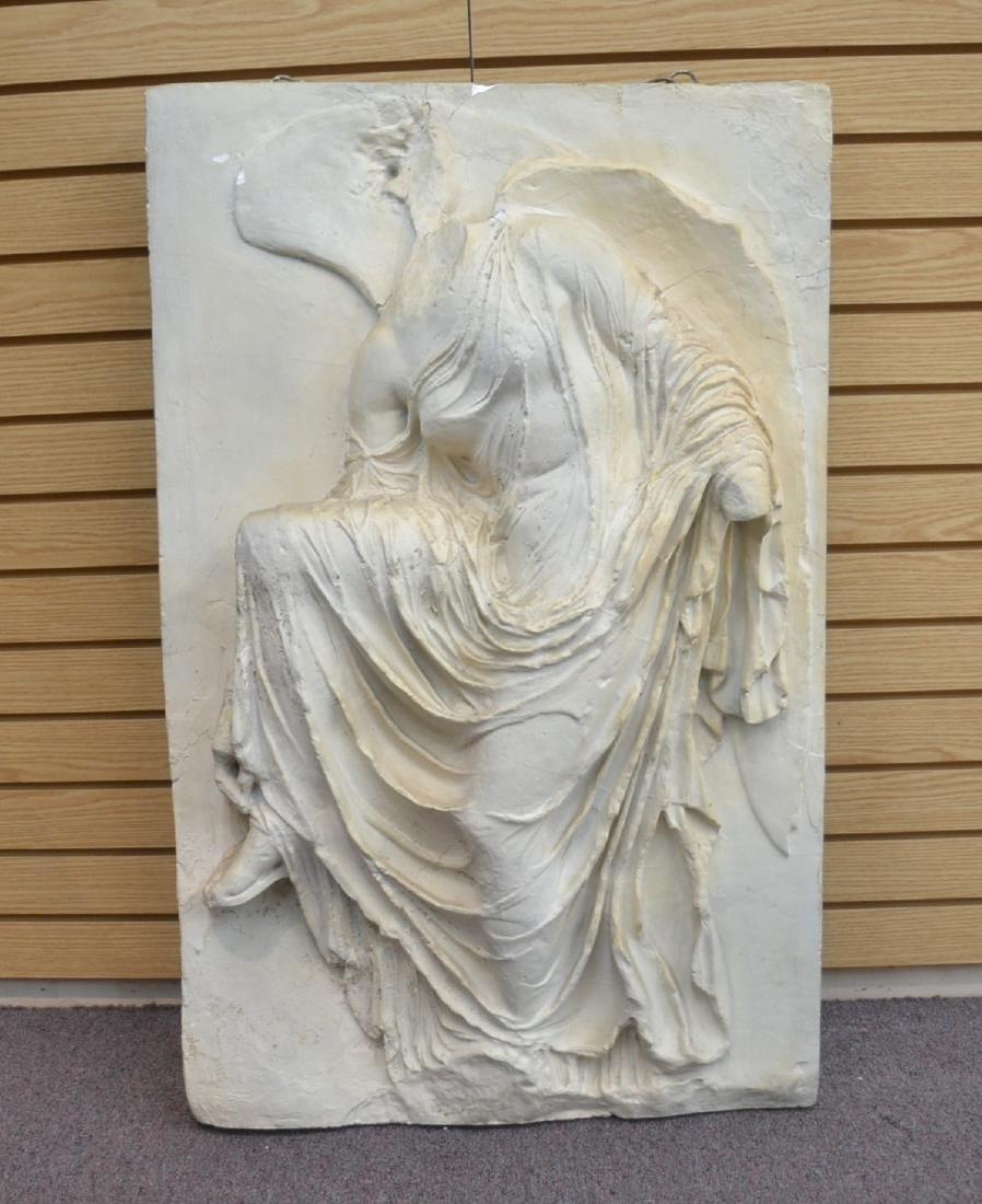 LARGE PLASTER PLAQUE OF GREEK GODDESS NIKE