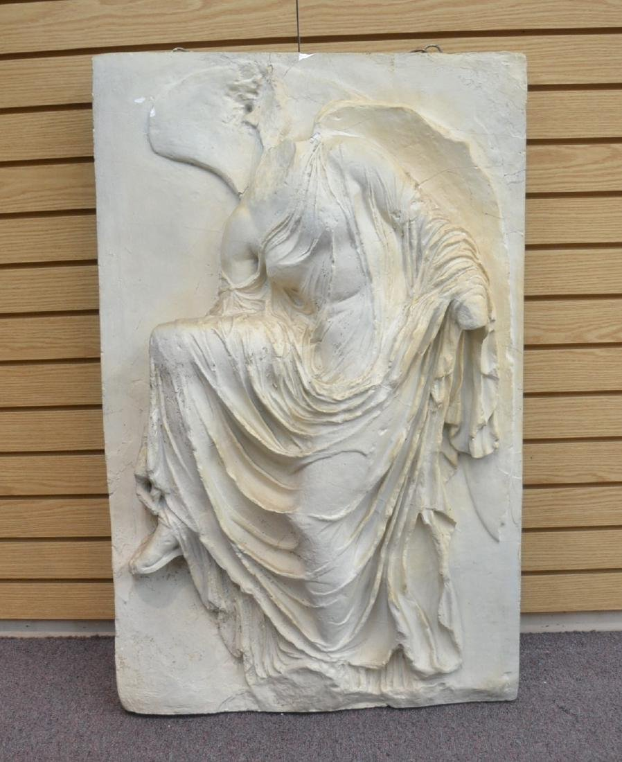 LARGE PLASTER PLAQUE OF GREEK GODDESS NIKE