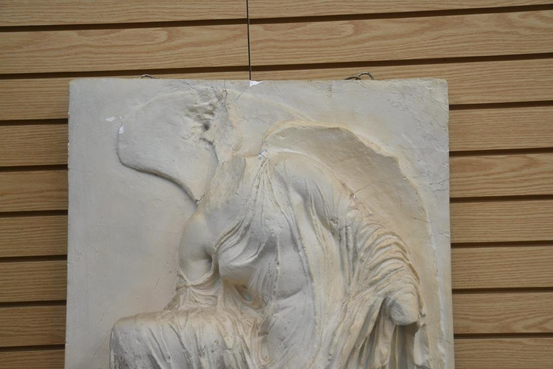 LARGE PLASTER PLAQUE OF GREEK GODDESS NIKE - 2