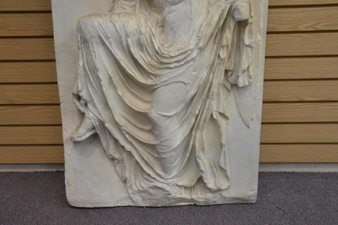 LARGE PLASTER PLAQUE OF GREEK GODDESS NIKE - 4
