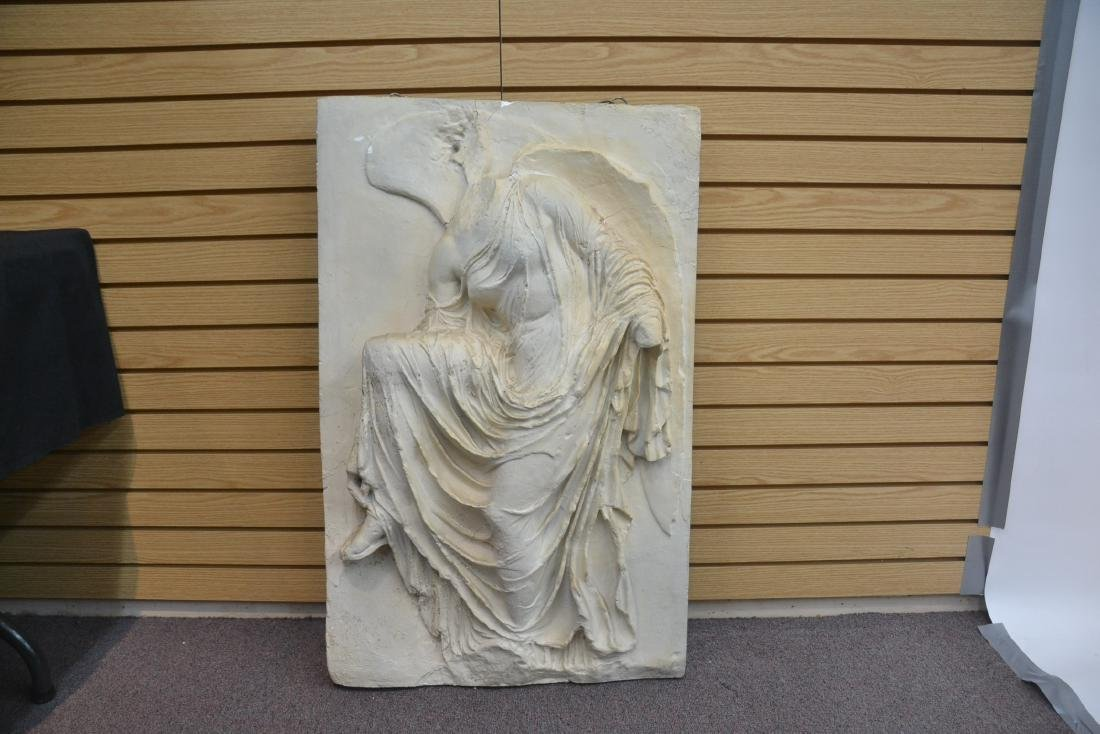 LARGE PLASTER PLAQUE OF GREEK GODDESS NIKE - 6