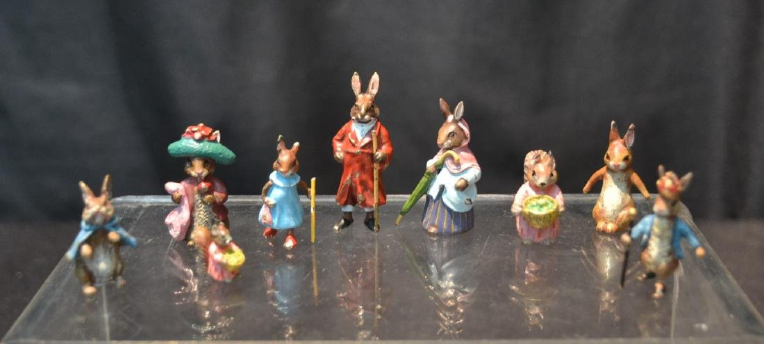 (7) COLD PAINTED BRONZE MINIATURES INCLUDING