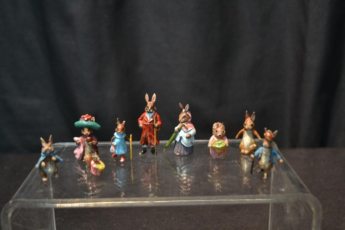 (7) COLD PAINTED BRONZE MINIATURES INCLUDING - 2