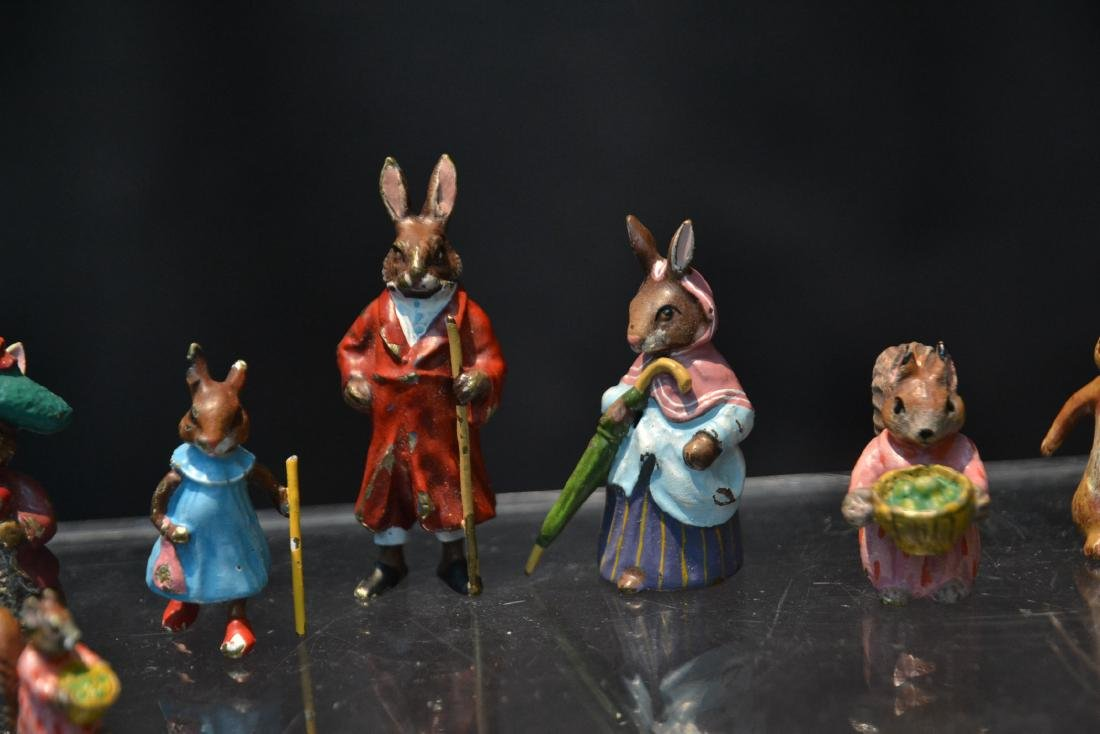 (7) COLD PAINTED BRONZE MINIATURES INCLUDING - 4
