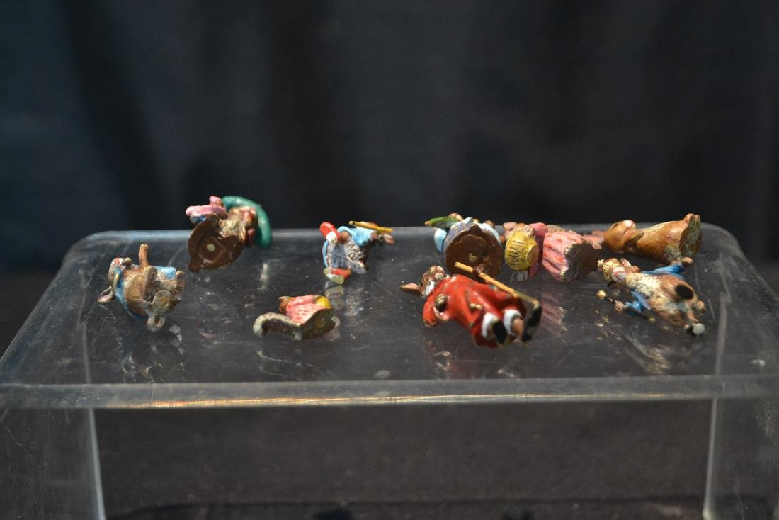 (7) COLD PAINTED BRONZE MINIATURES INCLUDING - 6