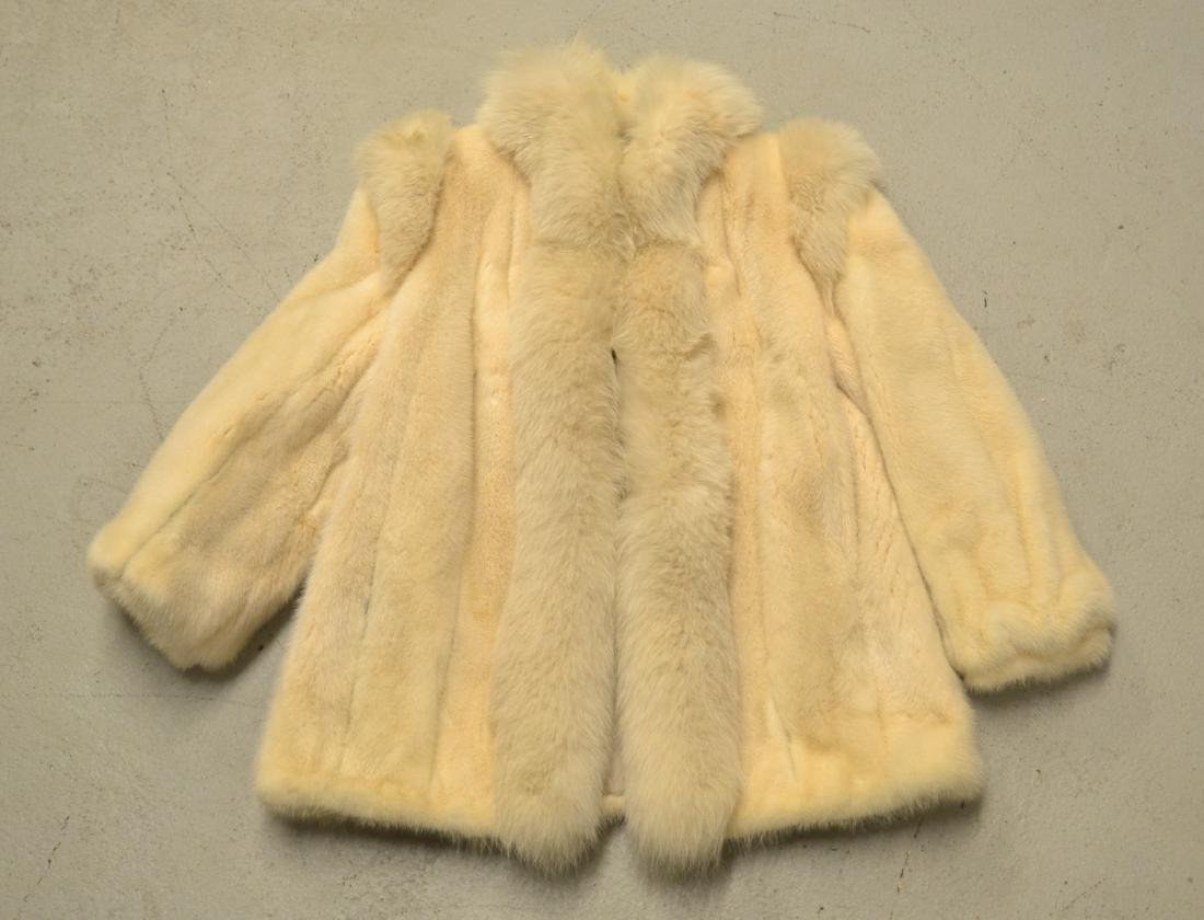 WHITE MINK JACKET ; APPROX. SIZE SMALL