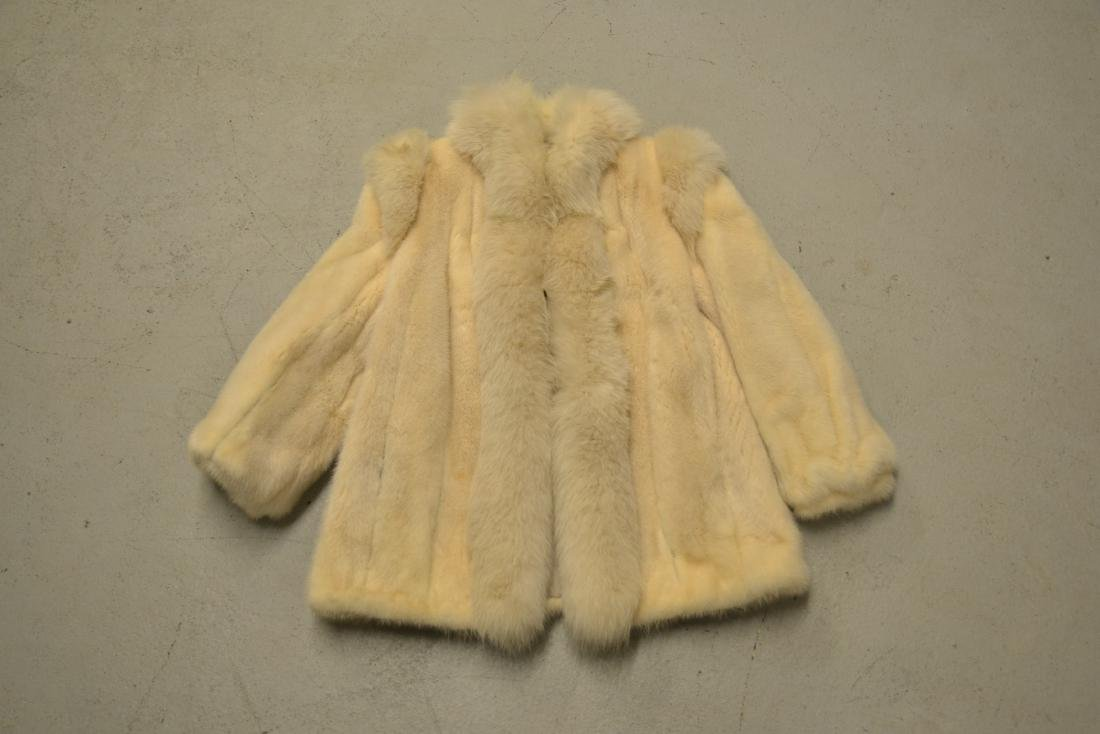 WHITE MINK JACKET ; APPROX. SIZE SMALL - 2