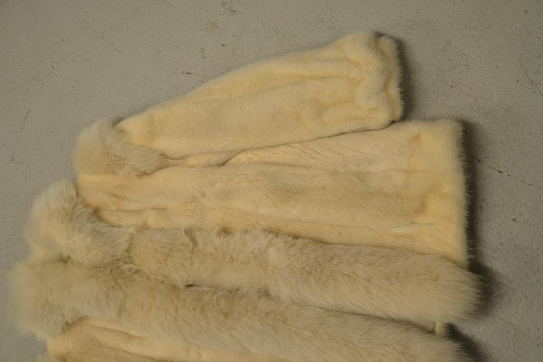 WHITE MINK JACKET ; APPROX. SIZE SMALL - 3