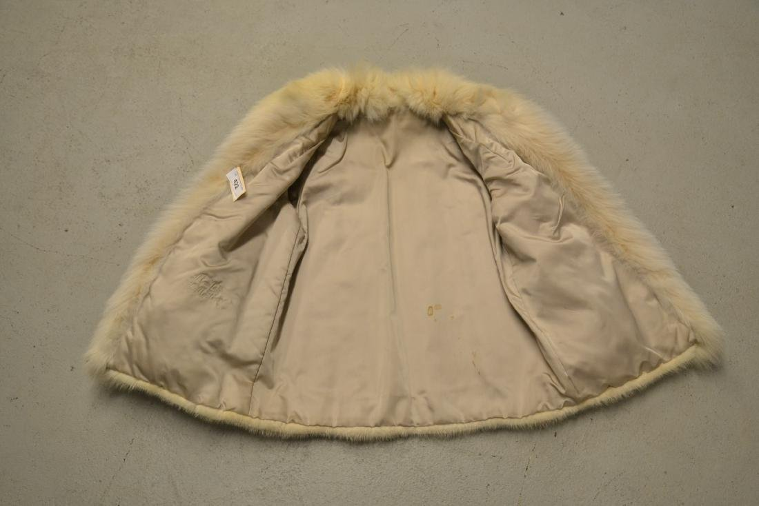 WHITE MINK JACKET ; APPROX. SIZE SMALL - 4