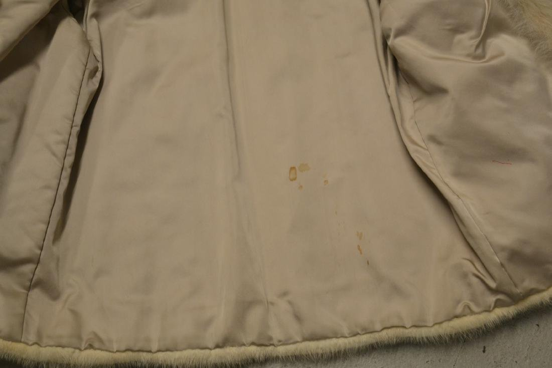 WHITE MINK JACKET ; APPROX. SIZE SMALL - 5