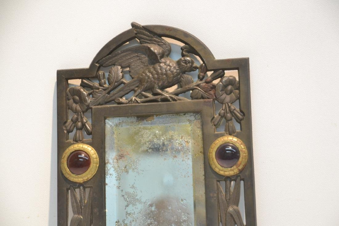ARTS & CRAFTS METAL BEVELED MIRROR WITH - 6
