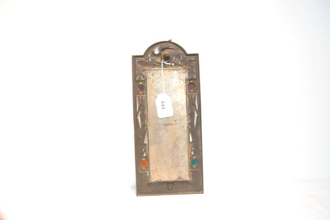 ARTS & CRAFTS METAL BEVELED MIRROR WITH - 7