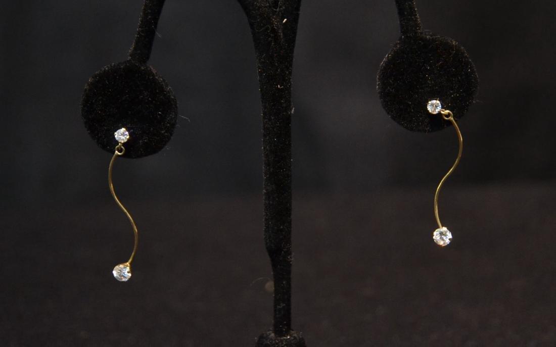 (Pr) 14kt DIAMOND EARRINGS