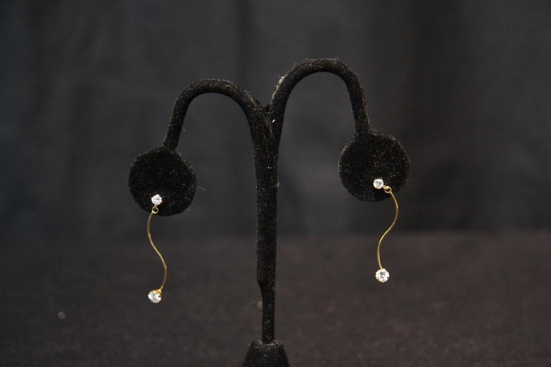 (Pr) 14kt DIAMOND EARRINGS - 2