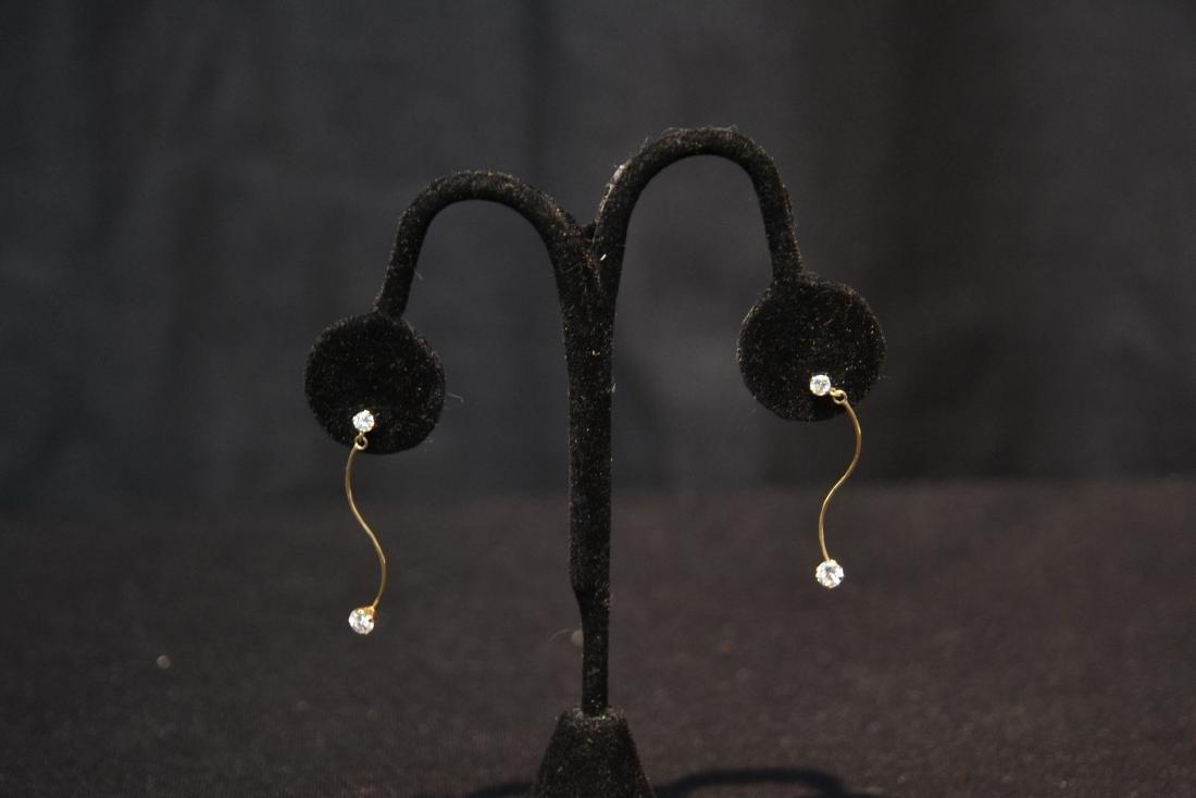 (Pr) 14kt DIAMOND EARRINGS - 3