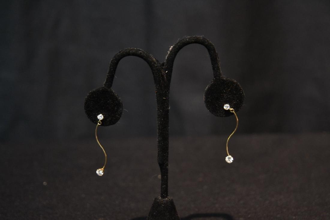(Pr) 14kt DIAMOND EARRINGS - 4