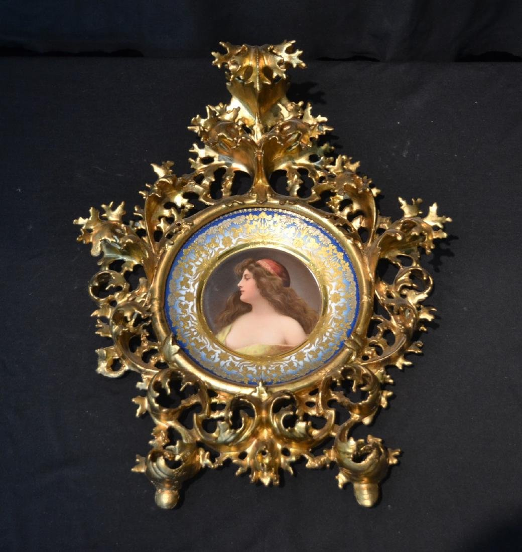 HAND PAINTED ROYAL VIENNA PORTRAIT PLATE OF