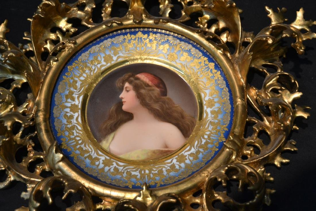 HAND PAINTED ROYAL VIENNA PORTRAIT PLATE OF - 5