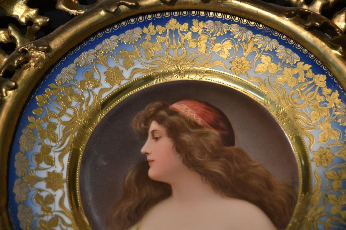 HAND PAINTED ROYAL VIENNA PORTRAIT PLATE OF - 6