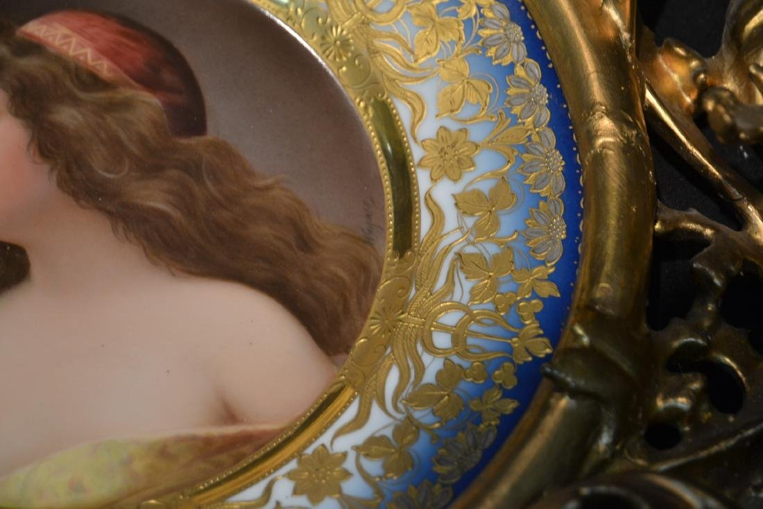 HAND PAINTED ROYAL VIENNA PORTRAIT PLATE OF - 8