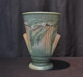 "LARGE ROSEVILLE ""LAUREL"" VASE - 8"" x 10"""