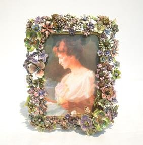 Jay Strongwater Enameled Bronze Frame With