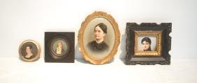 (3) HAND PAINTED PORCELAIN PORTAITS OF WOMAN