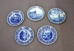 (5) LARGE DELFT BLUE & WHITE CHARGERS