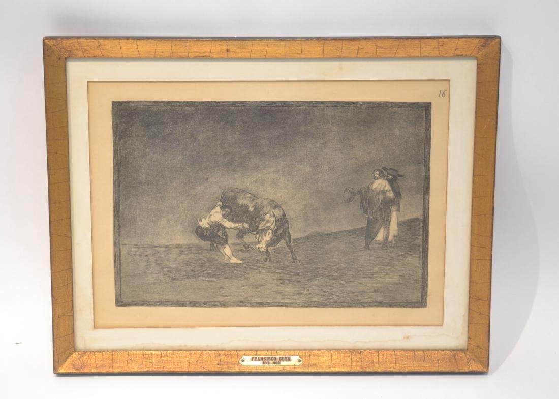 AFTER FRANCISCO GOYA (1746-1828) BULL FIGHTING