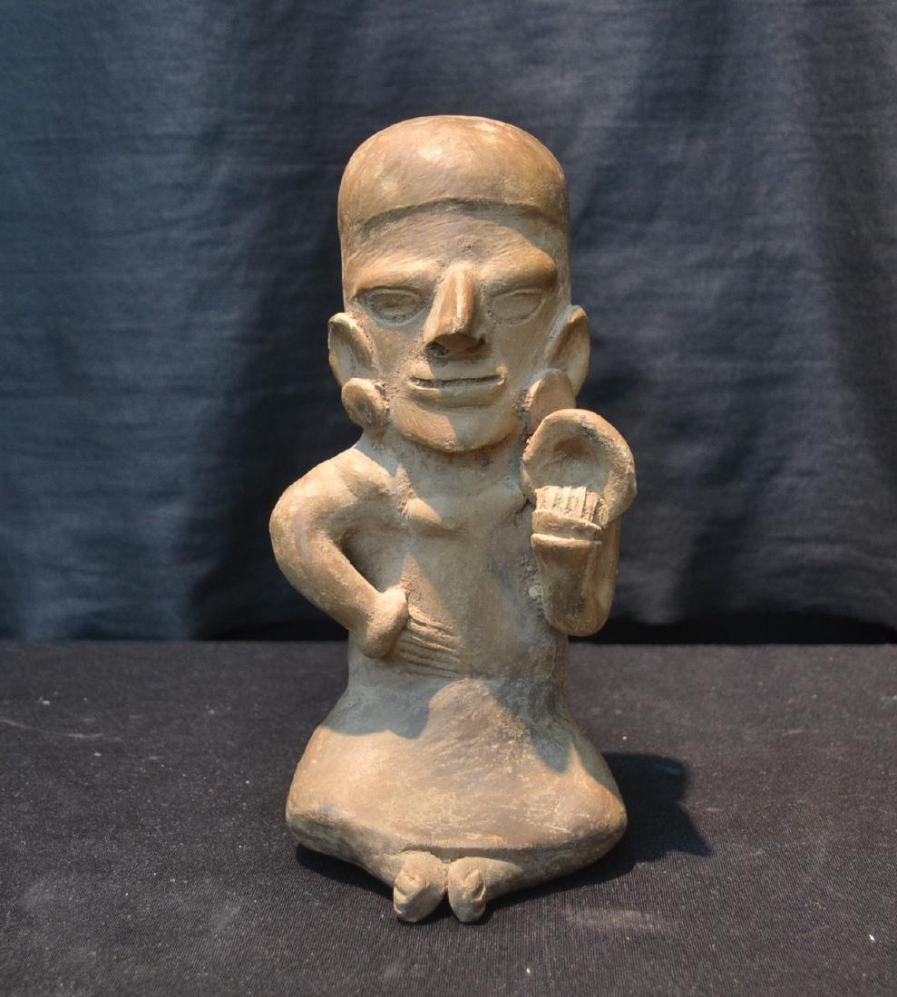 PRE COLUMBIAN ART POTTERY FIGURE OF MAN