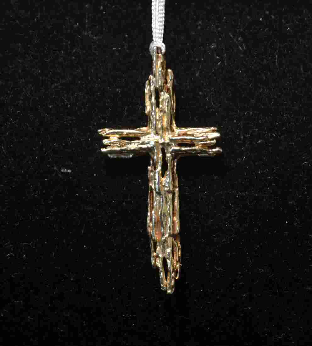 "14kt GOLD CROSS - 1"" x 2"" ; 6.1grams"