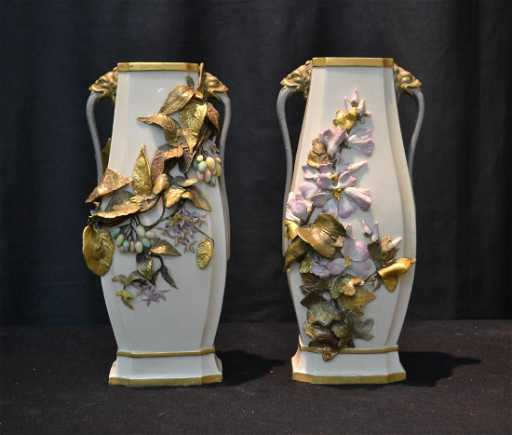 Pr Aesthetic Royal Worcester Vases With